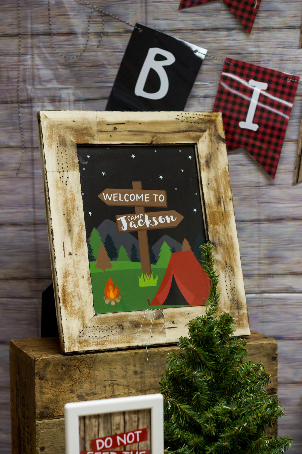 Welcome to Camp Jackson party sign