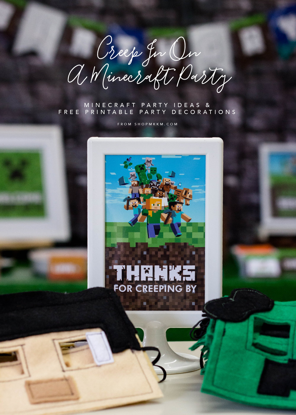 Minecraft Party Ideas and Free Printable Party Decor by MKKM Designs