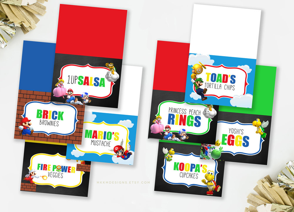 Super Mario Party Food Cards by MKKM Designs