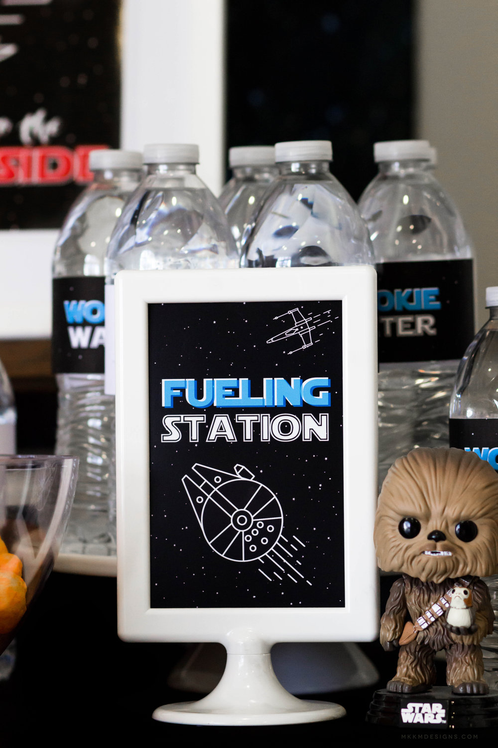 Fueling Station Sign. Free Star Wars Party Printables by MKKM Designs #swoonworthysoirees #mkkmdesigns