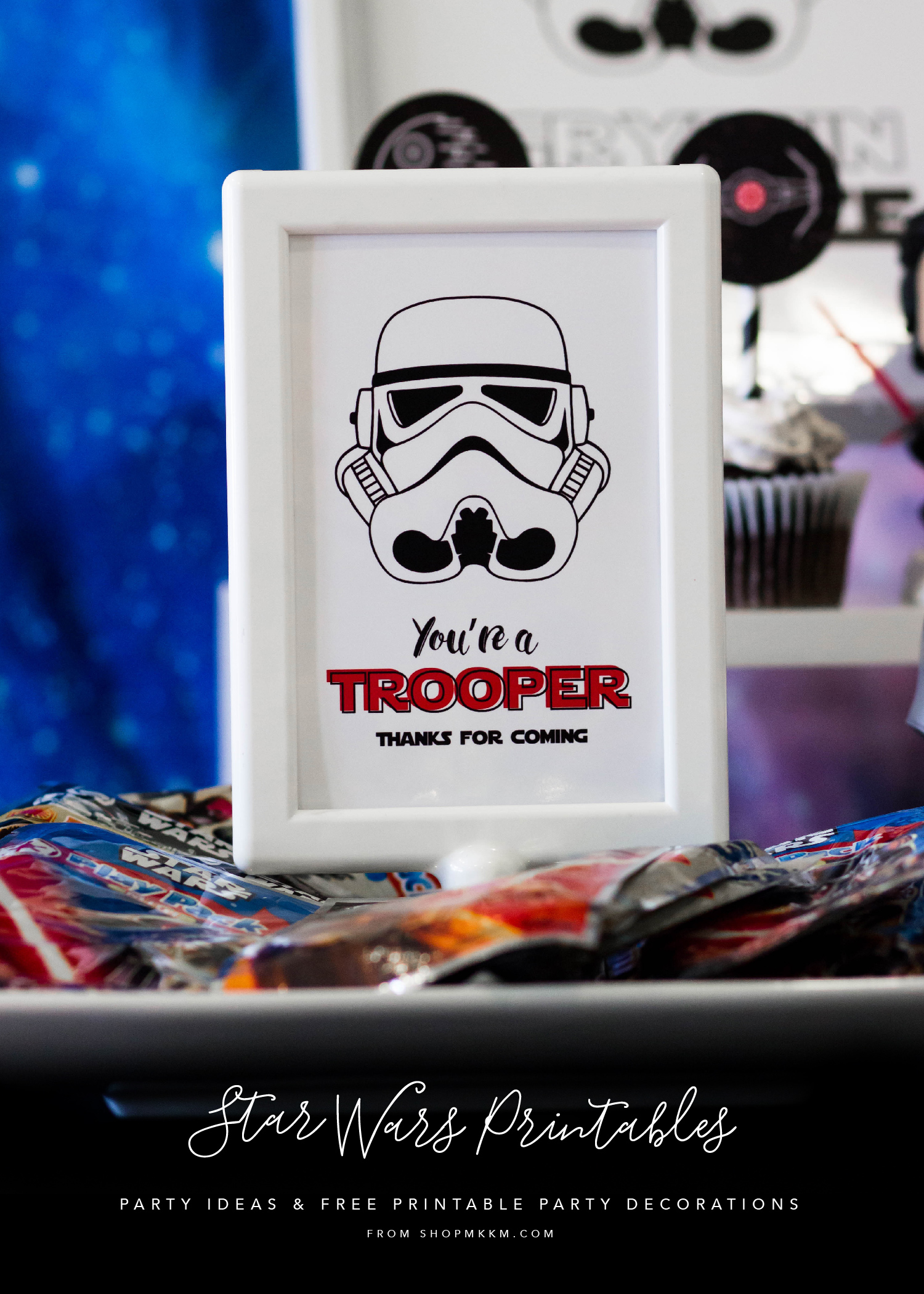 welcome to the dark side: star wars party printables — mkkm designs