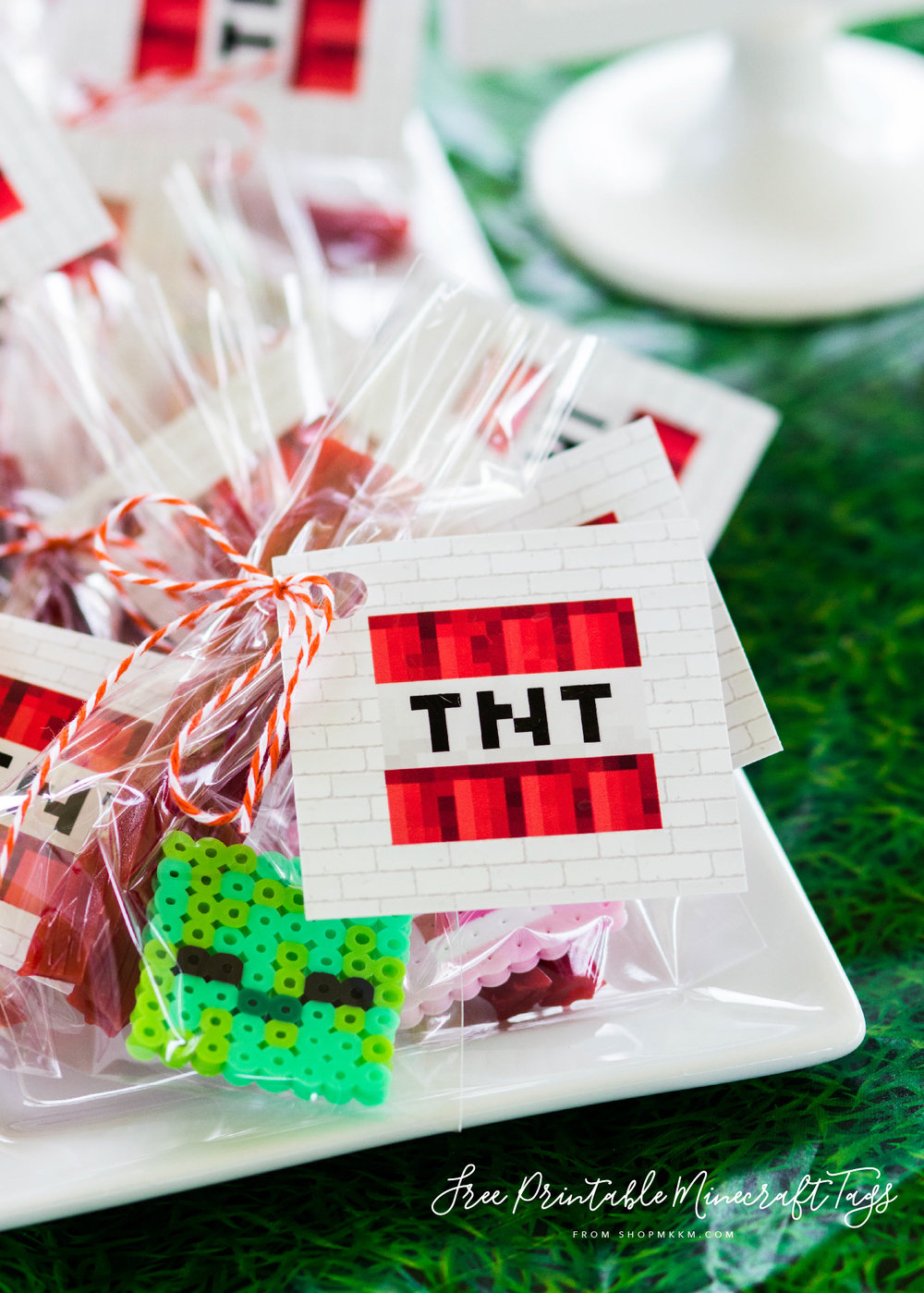 Free printable Minecraft favor tags. TNT favor tags by MKKM Designs. #mkkmdesigns #swoonworthysoirees