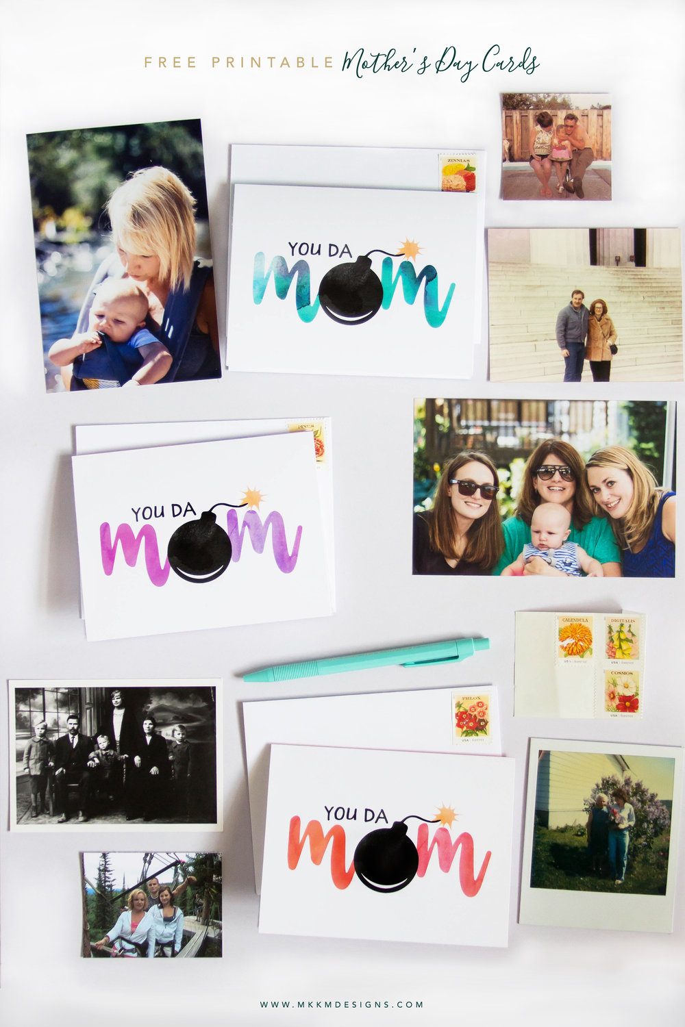 You da Mom mothers day card printable by MKKM Designs