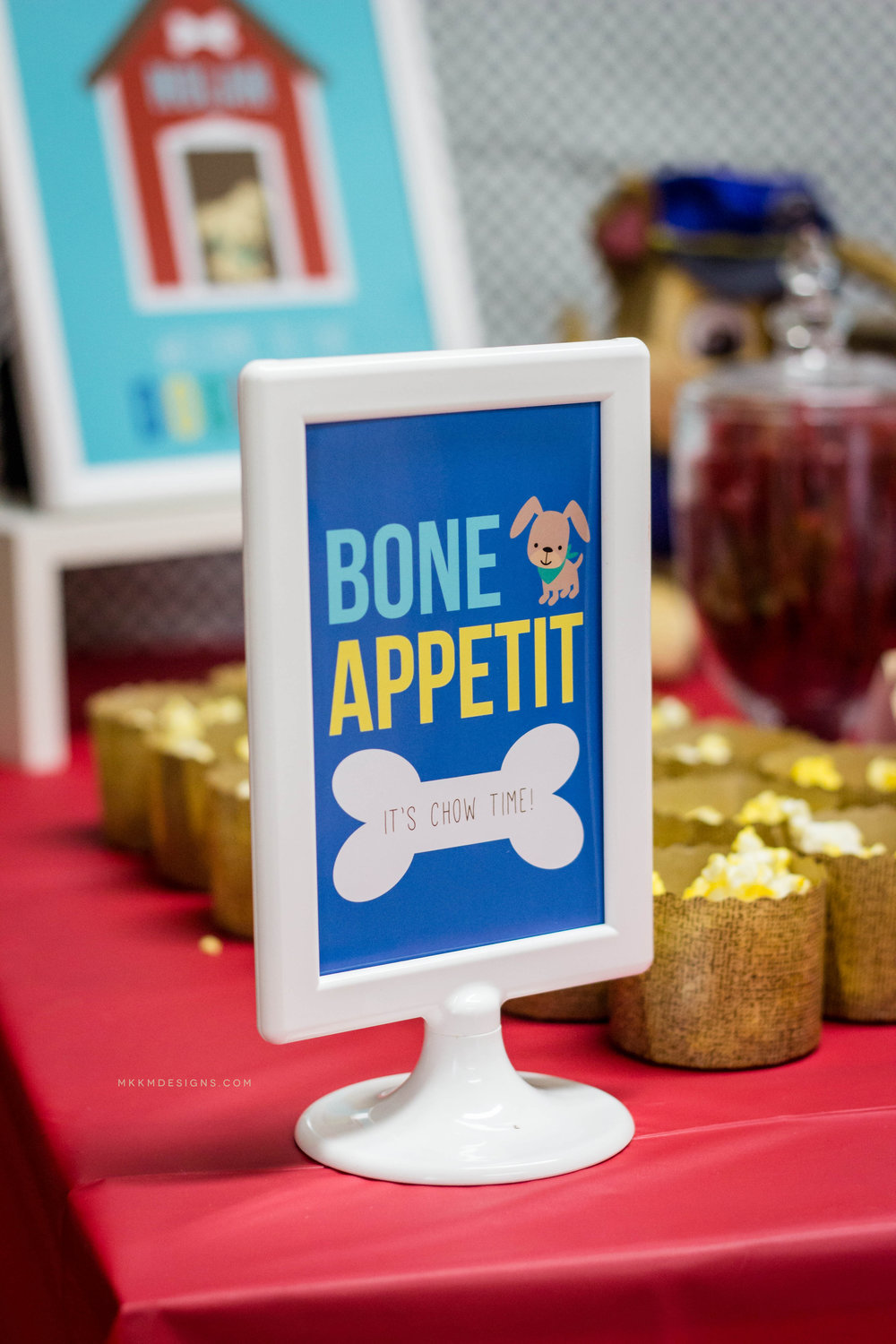Bone Appetit Puppy Party Sign by MKKM Designs