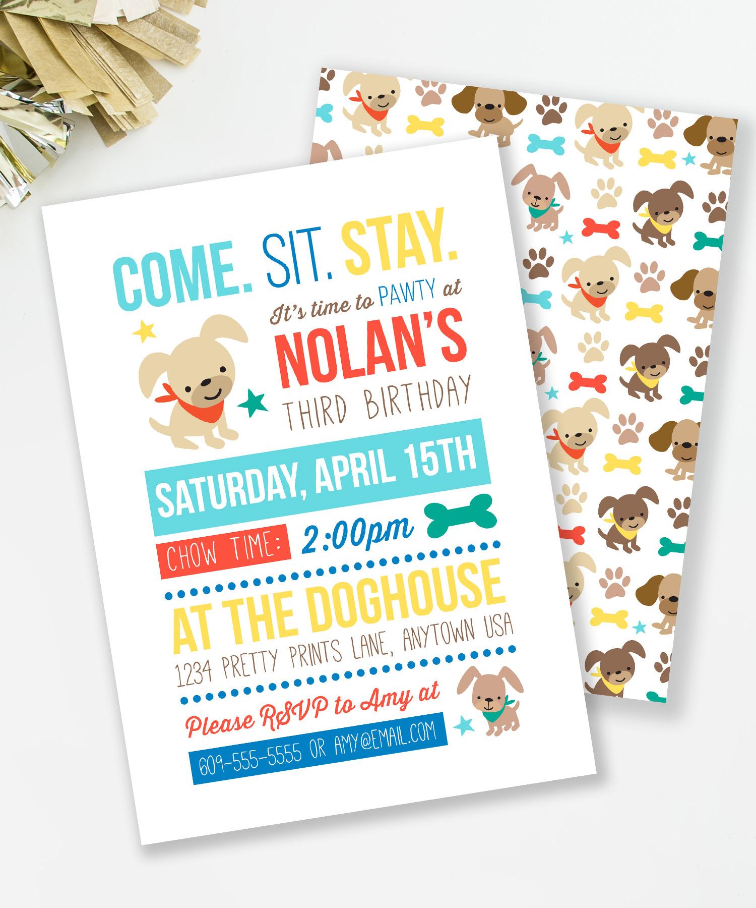 Puppy Party Invites — MKKM Designs