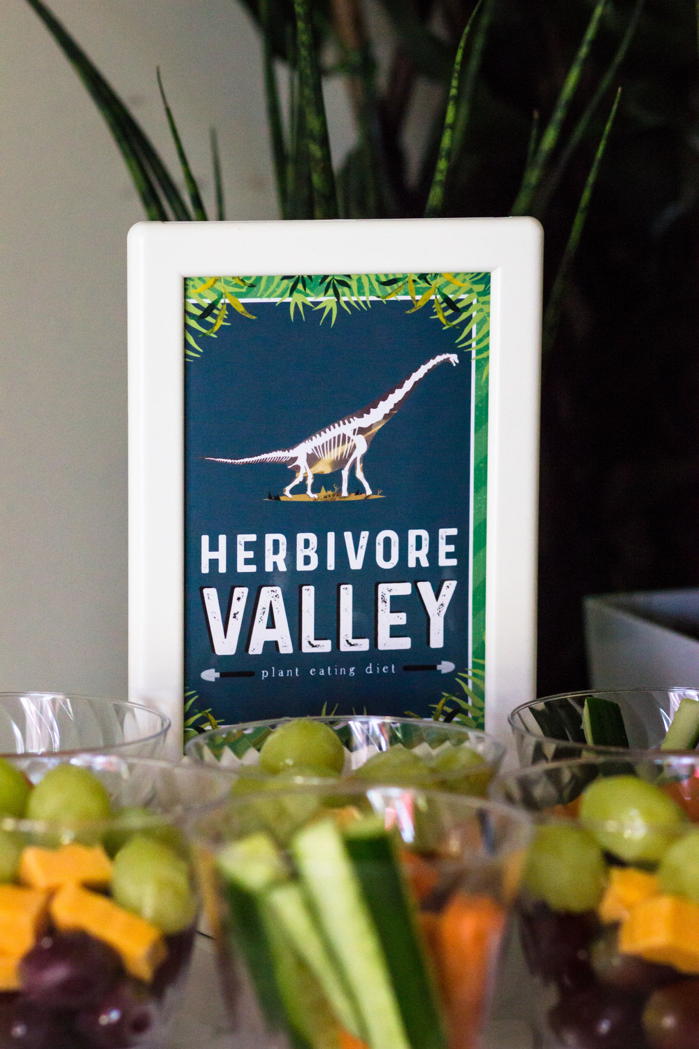 Herbivore Valley party sign. Party signs for a Paleontologist themed birthday by MKKM Designs