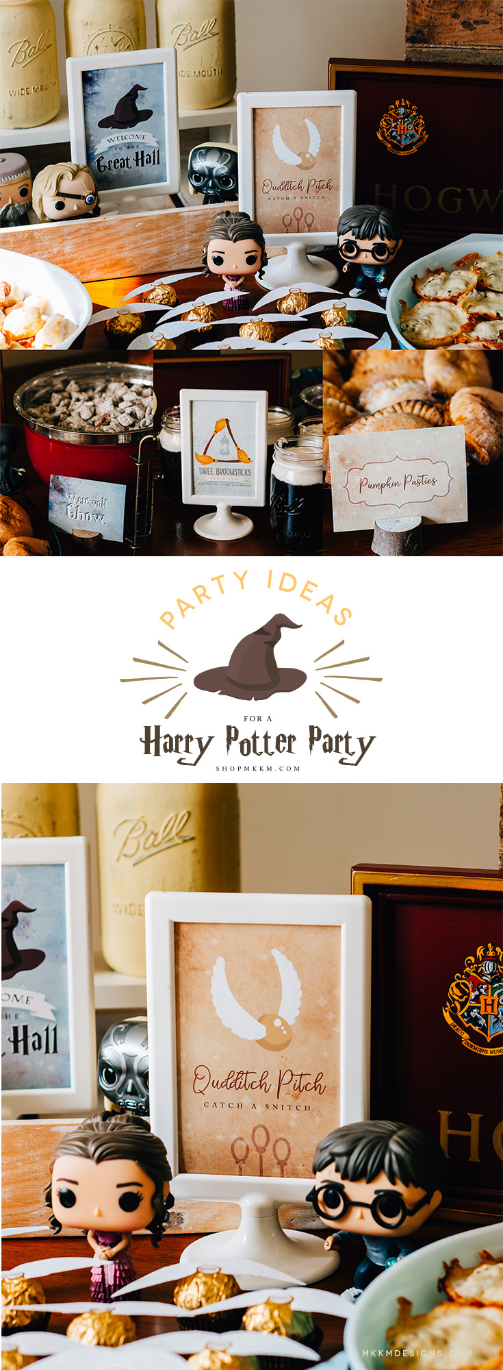 Harry Potter Mini Party: Free Printable signs and food cards from MKKM Designs.