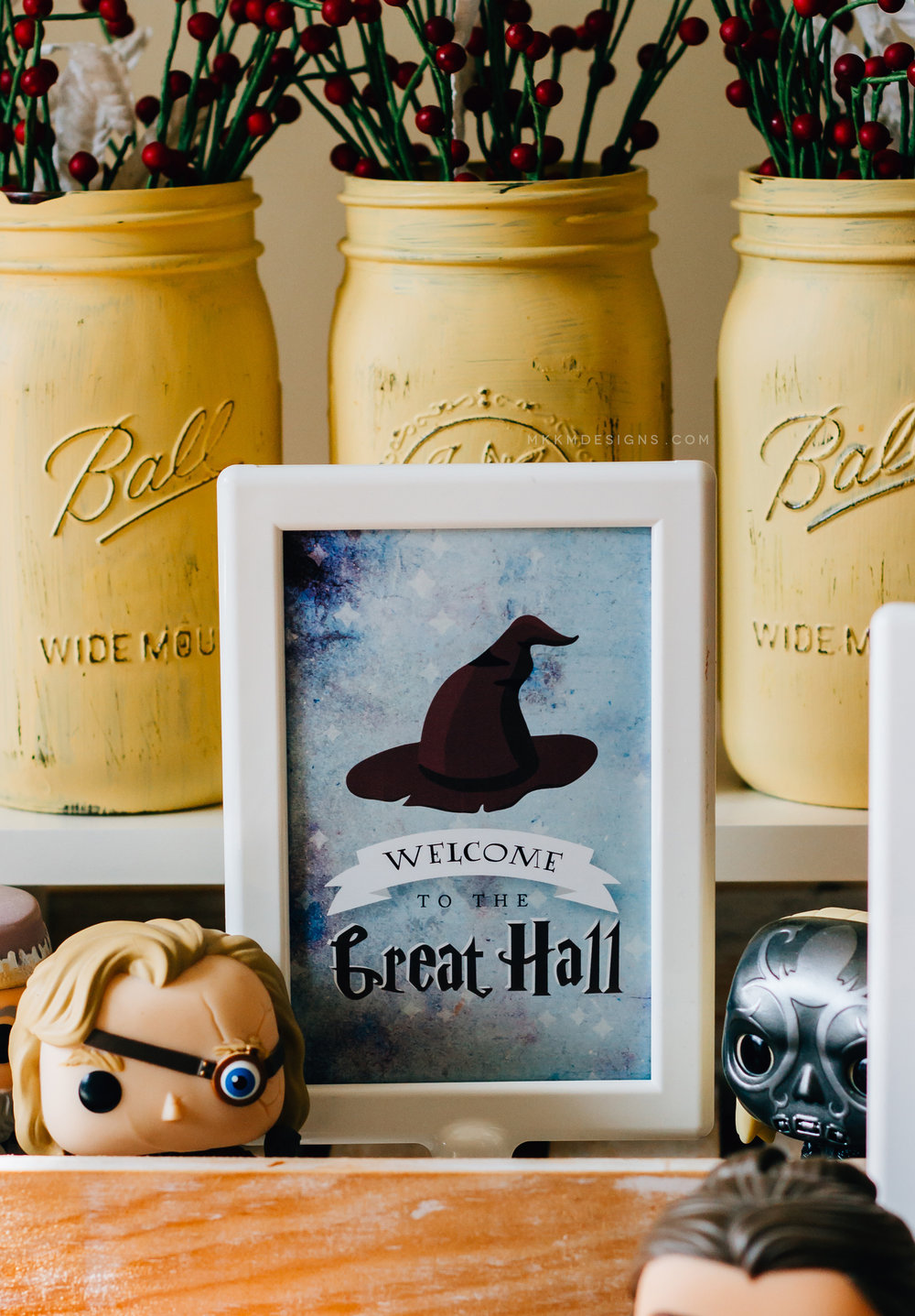 Welcome to the Great Hall, Harry Potter free printable party sign from shopmkkm.com