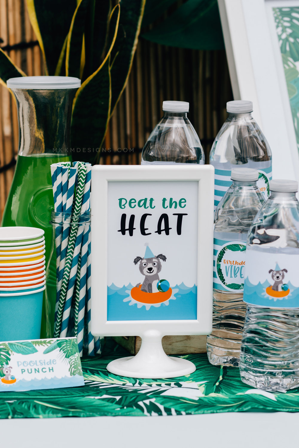 Beat the Heat drink sign from a puppy party // designs from shopmkkm.com