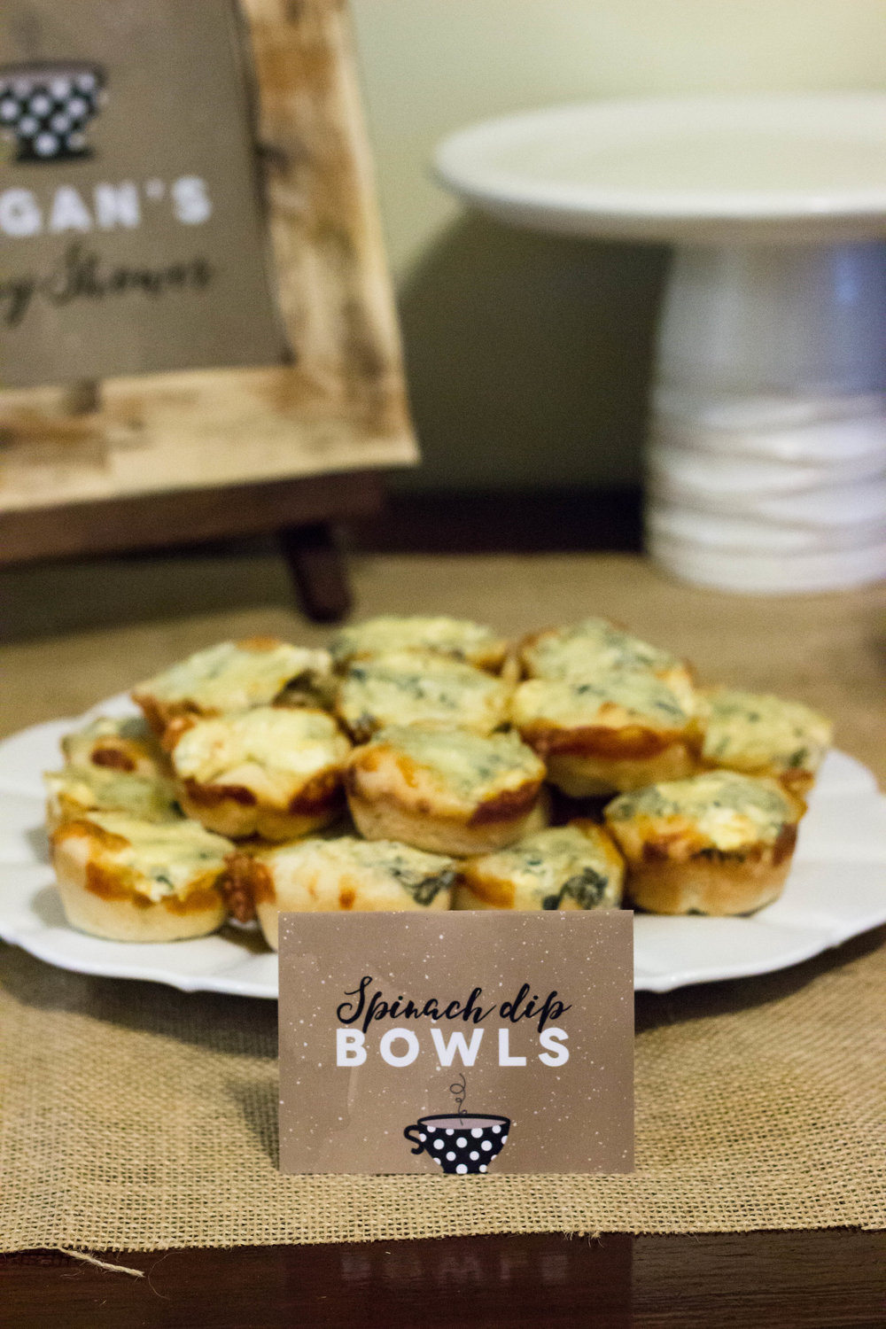 Spinach Dip Bowls, custom food cards from mkkmdesigns.com