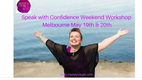 """WHY IS SPEAK WITH CONFIDENCE FOR YOU?HAVE YOU EVER ASKED YOURSELF: """"Where would my career, business or life be if I had a more confident voice and I wasn't afraid to speak out?"""" For many people, success comes from their confidence and their ability to communicate succinctly, powerfully and authentically. It also comes from being able to share who you really are and be 100% present with your listening and communication.  DO YOU OCCASIONALLY OR CONSTANTLY:  – Feel too nervous to speak up in group situations – Lack the ability to be heard amongst strong personalities – Have difficulties finding the right words to say – Suffer from anxiety or fears that hold you back – Feel your energy drop when you are asked to present to a group – Lack the confidence in your voice – Wish that you had an even more confident and engaging presence  If you experience any of the above and you are a career driven woman seeking to improve your presentation and communication skills in a safe and creative environment then the Speak With Confidence Workshop is for you.  This is your opportunity to develop the energy, esteem and self-expression that you need to grow your physical presence and to advance your professional career with confidence. An interactive workshop with Mandy Siegel will help you get your voice heard and your presence known."""
