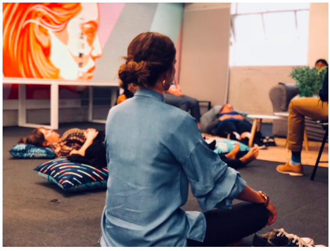 Join us at 2pm for a 20-minute mindful meditation. Our meditation session is lead by one of the our members, Tali, Founder of The Voices of Movement. We believe, allowing and teaching yourself to relax your mind is vital, especially as a busy professional or business owner. This event is for anyone who needs to step away from their desk for 20 minutes or so and is suitable for beginners, you don't need to bring anything along, except for an open mind.