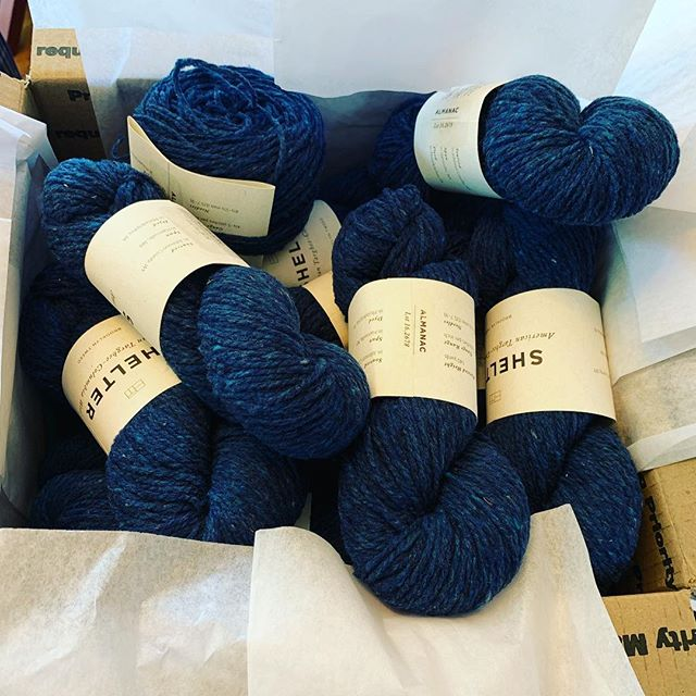 Next project yarn is here! Thanks to @churchmouseyarns and @twistedyarnshop who had the skeins I needed between the two of them. Belfast by @brooklyntweed will be quite the sweater. #knittersofinstagram #menwhoknit