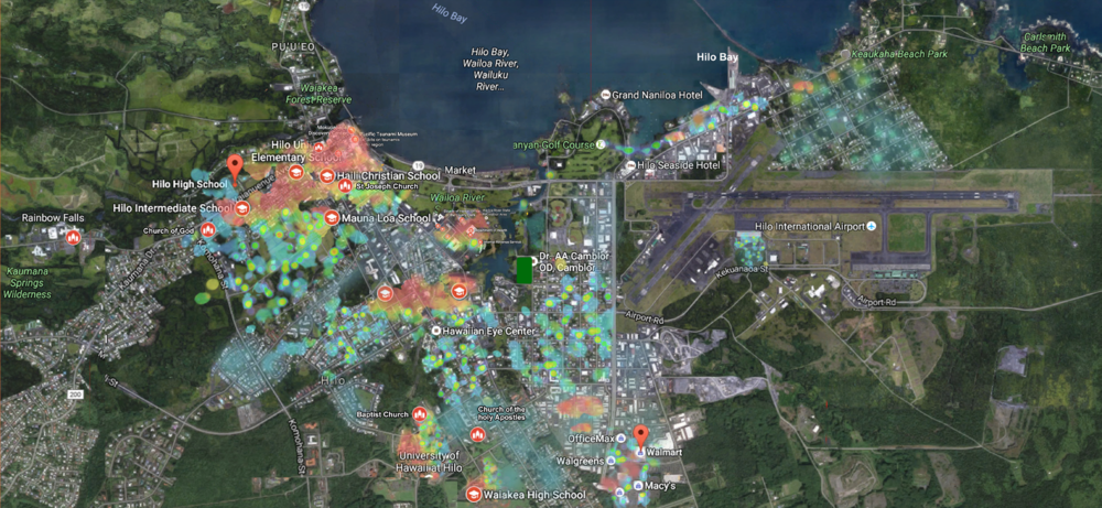 Hilo Weekday Heat Map