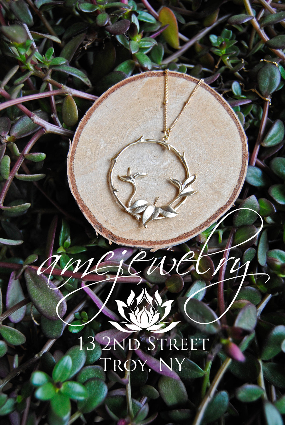 Friday January 6th 5-7 : One of Our Featured Artists is back for January!! AMCooper Jewelry. They have just opened their first shop in Troy but have been selling at Farmers Markets and Pop Up Events previously.  http://www.amcjewelry.com