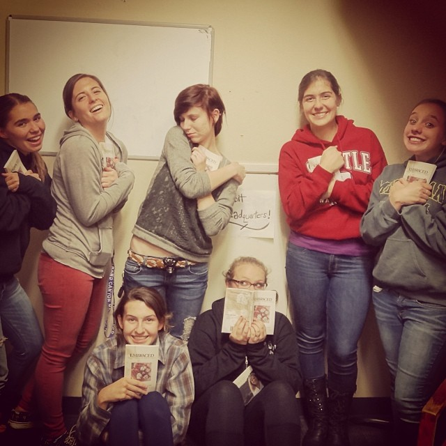 Use  Embraced  in a small group like these girls!