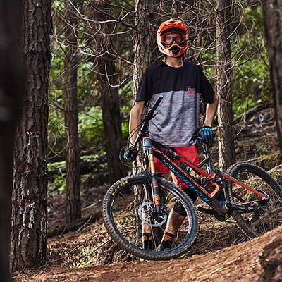 Jack Hewish A young enduro pinner from the mornington peninsular with some real promise. Placing third in under 17's at the first round of the MTBA National Enduro series. in Falls Creek