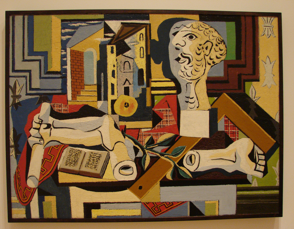 Innovative things you can do without a computer, according to Picasso's '  Studio with Plaster Head' , 'Juan-les-Pins', summer 1925. Oil on canvas (Source: MoMA NYC)