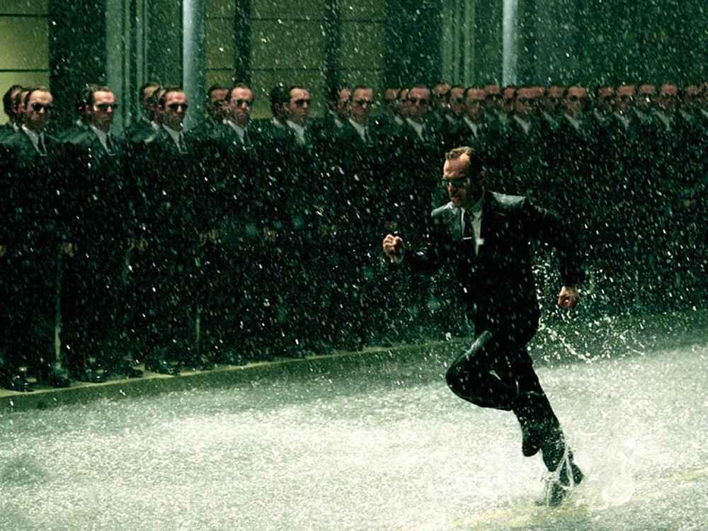 There's a lot of running in The Matrix, so picturing an alternative reality Olympics isn't too much of a stretch.