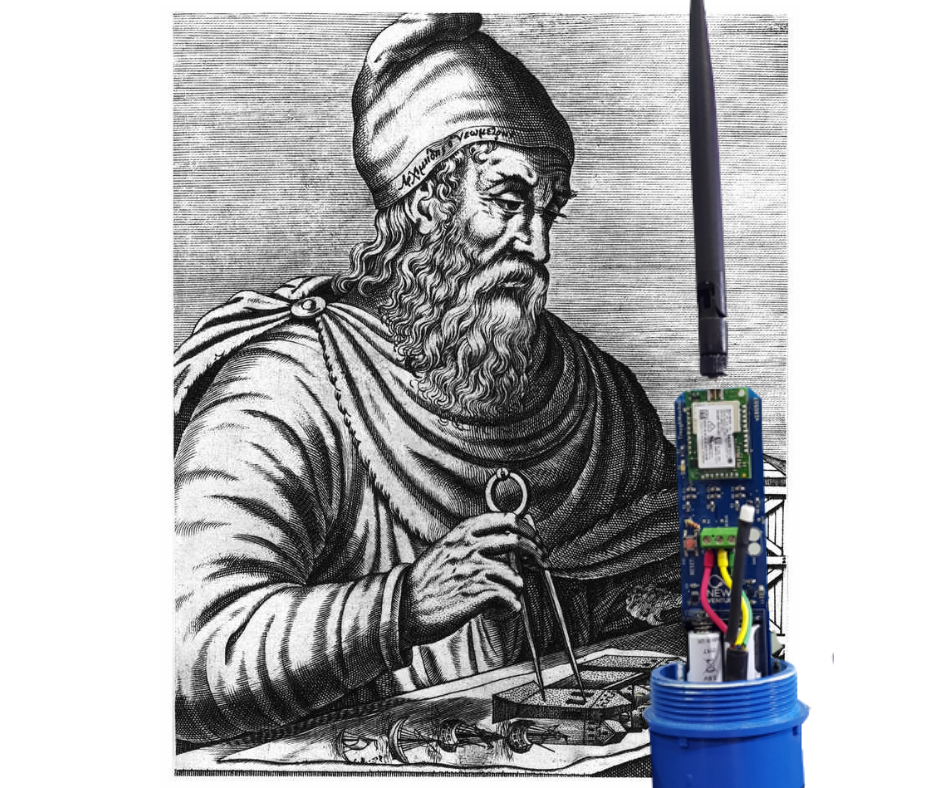 Perhaps Archimedes' innovative mathematical schemes might have led to our novel Trough Monitor device… if only keeping the Romans away wasn't on the agenda.