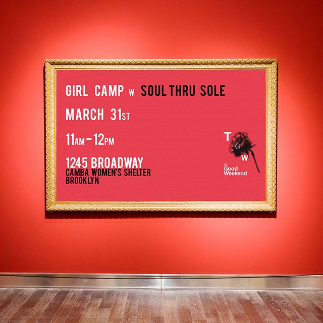 The Good Weekend returns with 'Girl Camp' on March 31st at 11am. This year we have the chance to work with CEO and owner of 'Soul thru Sole'dance studio @traye.m Tiffany will bring her empowering talents to the patrons of the CAMBA women's shelter to focus on healing, freedom, sisterhood through movement of dance. . Swipe right and see photos from last years Girl Camp. . RSVP, DONATE at http://www.campryan.com or link in the bio.  #CampRyan #TheGoodWeekend