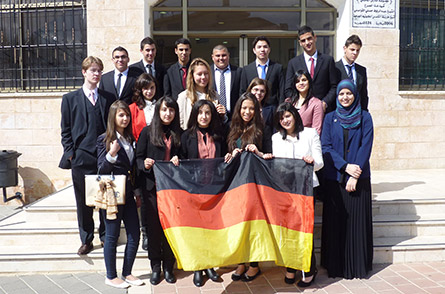 Students from Al Qesemi and Otto-von-Taube Gymnasium