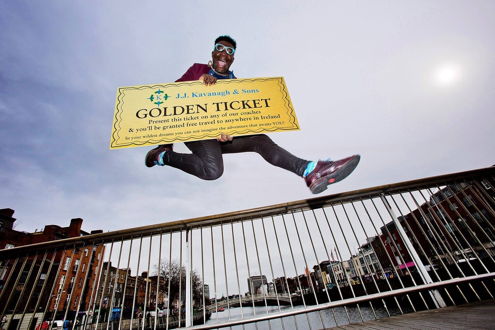 I've got a golden ticket to travel around Ireland!