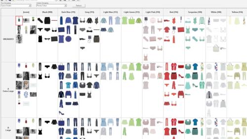 Disponer de una panorámica visual de la línea permite clasificar y equilibrar la colección del modo más eficaz posible, pudiéndola ordenar por distintos criterios de forma casi ilimitada.