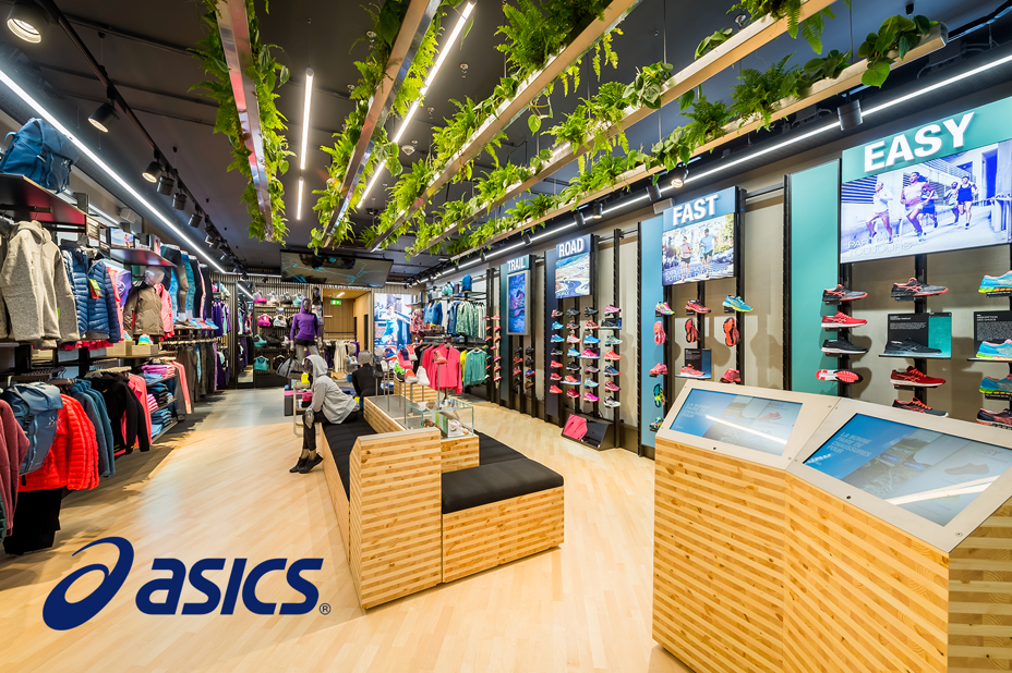asics sportswear, Visual Merchandising Retail Software