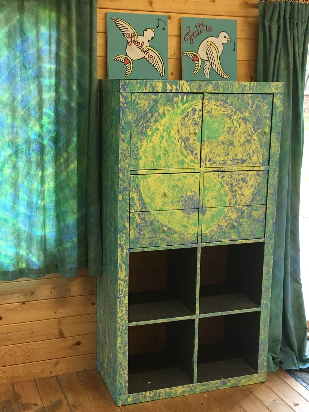 Wonderful painted unit for our summer house.