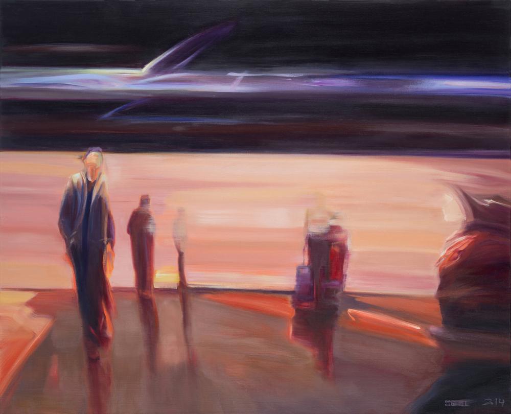 Crossroads (2014) Huile sur toile,81 x 100 cm collection privée