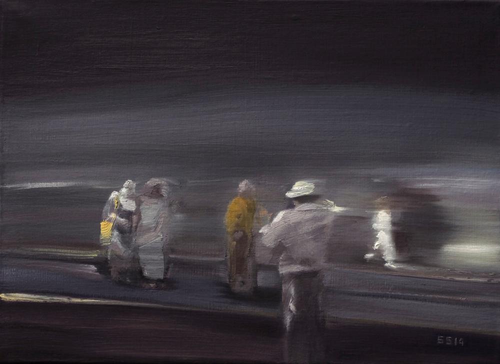 Sophie SIGOREL, Entre nous #4, 2014, huile sur toile, 24 x 33 cm