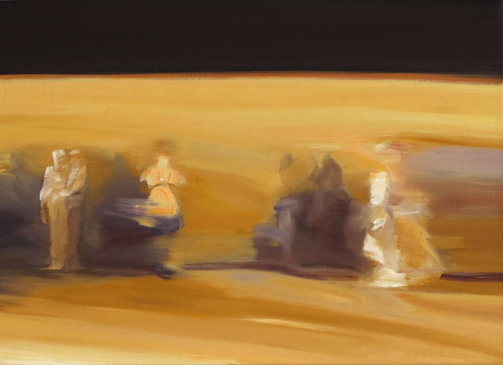 Sophie SIGOREL, Platform, 2014, huile sur toile, 24x33 cm
