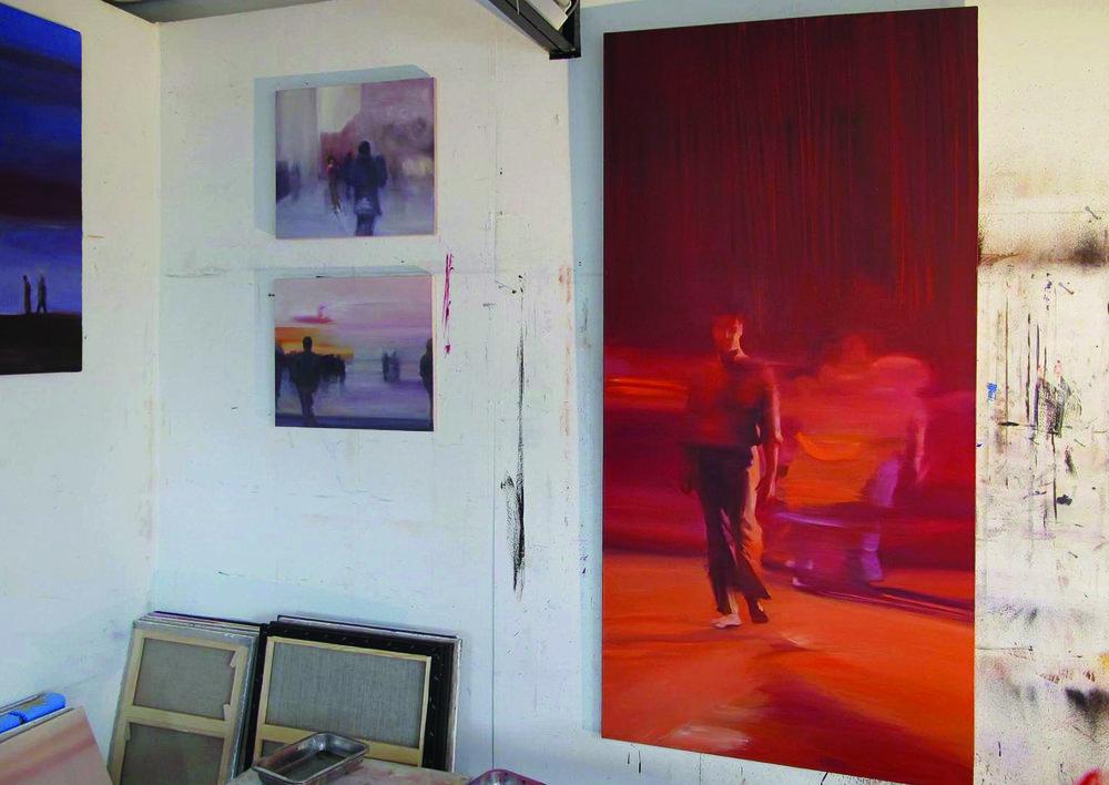 Atelier de l'artiste, décembre 2016