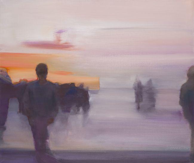 Après l'horizon huile sur toile 46 x 55 cm