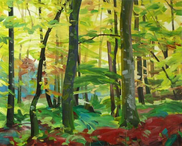 Forêt 4 acrylique sur toile 130 x 162 cm