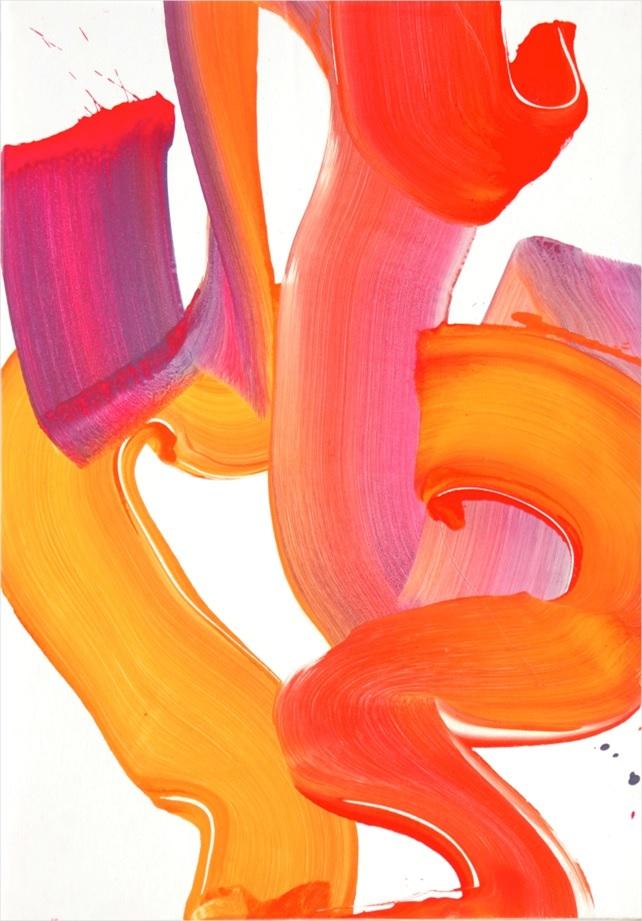 Altérité 2, 2014, technique mixte sur papier marouflé sur panneau, 72 x 102 cm