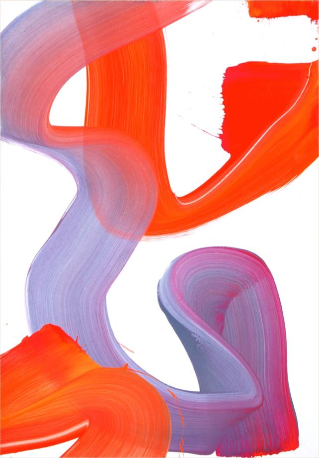 Altérité 3, 2014, technique mixte sur papier marouflé sur panneau, 72 x 102 cm