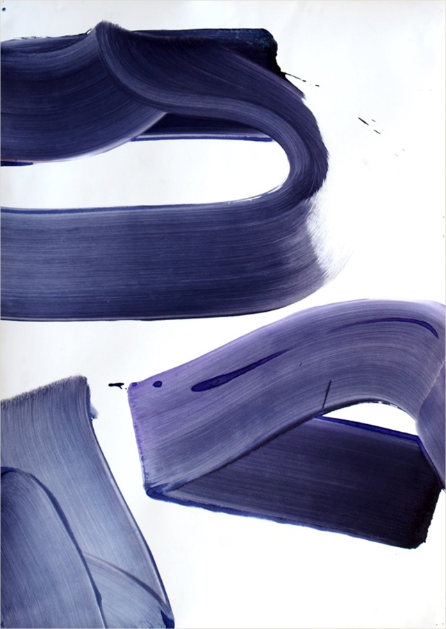 aSuite simple 1, 2015, acrylique sur papier monté sur panneau et châssis, 72 x 102 cm