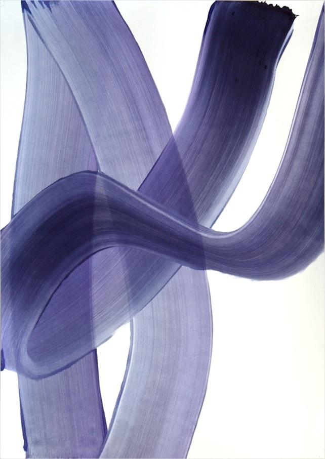 Suite Simple 3, 2015, acrylique sur papier monté sur panneau et châssis, 72 x 102 cm