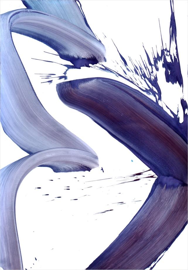 aSuite simple 2, 2015, acrylique sur papier monté sur panneau et châssis, 72 x 102 cm