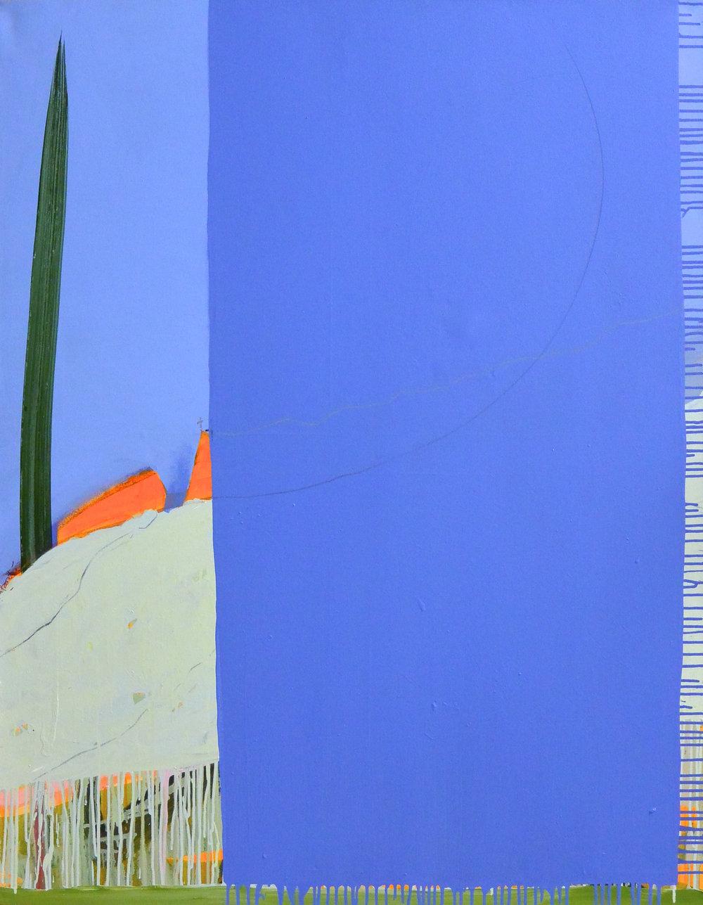 A bloc IV 2 2015 acrylique et crayon sur toile 146 x 114 cm