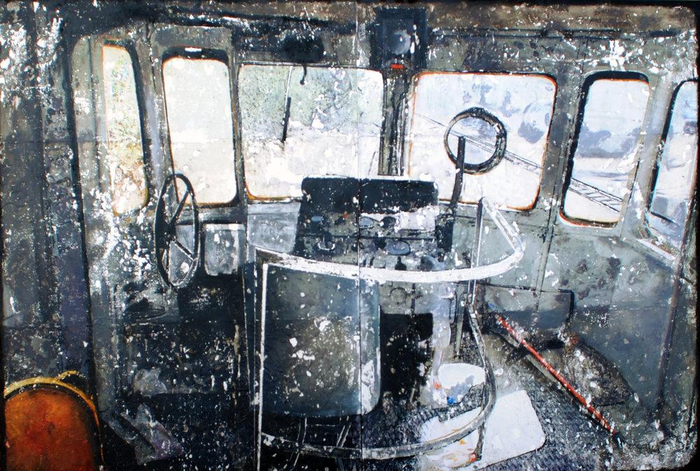 Voiintérieure II technique mixte photographique 80 x 120 cm