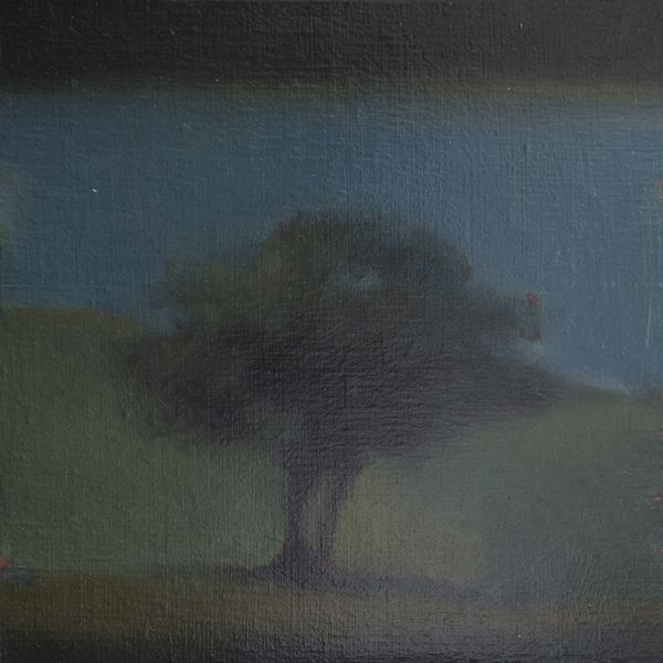 Dessous mon arbre Huile sur toile  30 x 30 cm