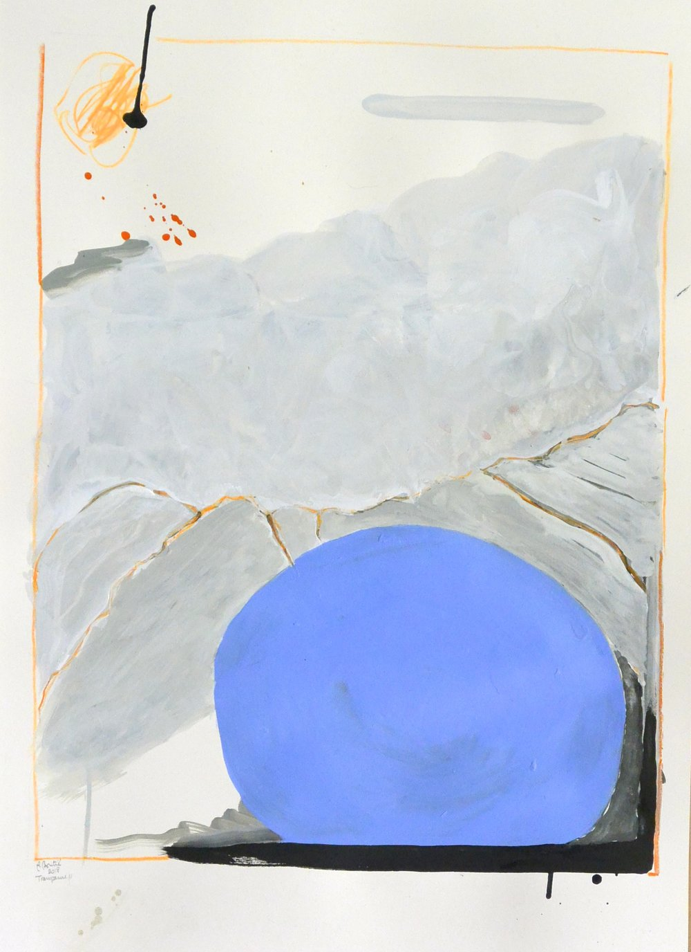 Transparue II technique mixte sur papier Fabriano Artistico  56 x 38 cm
