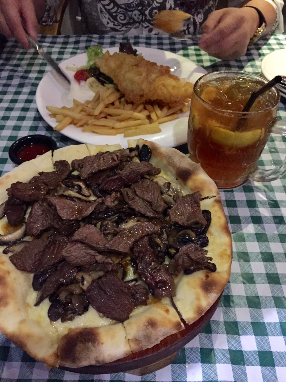 My favourite wagyu beef pizza that is a perfect mix of beef, mushroom,cheese and caramelized onions! Pure bliss...