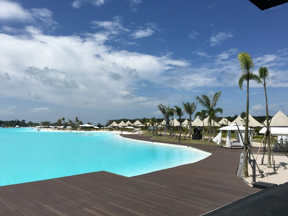 THOSE ARE OUR GLAM TENTS RIGHT BY THE LAGOON POOL!