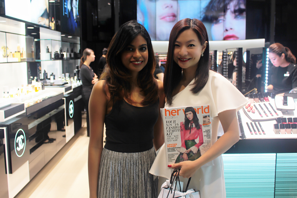 WITH THE GORGEOUS JACQUELINE - HER WORLD BEAUTY EDITOR!
