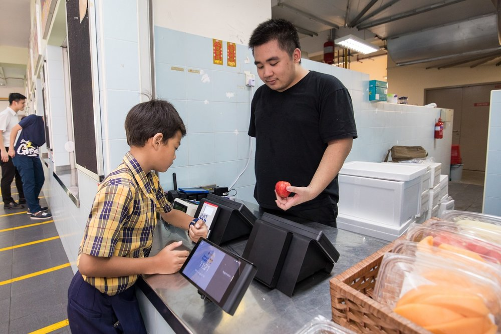 SCHOOL'S CANTEENS & BOOKSTORES ARE SET UP WITH DIGITAL PAYMENT TERMINALS.
