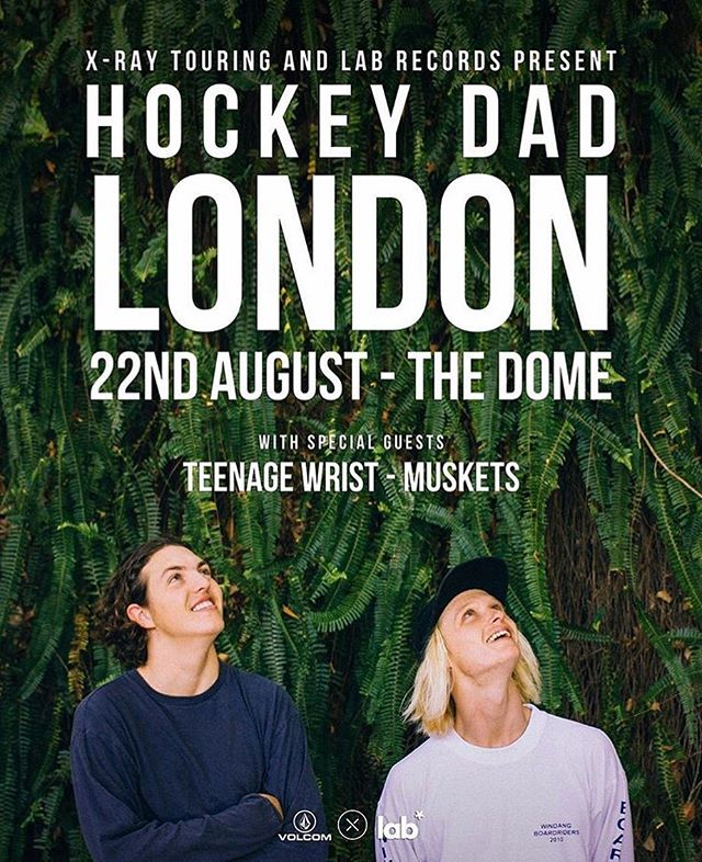 Excited for tonights @hockeydadband + @teenagewrist + @musketsuk show? Last few tickets available through the website! Check link in profile 👊🏼